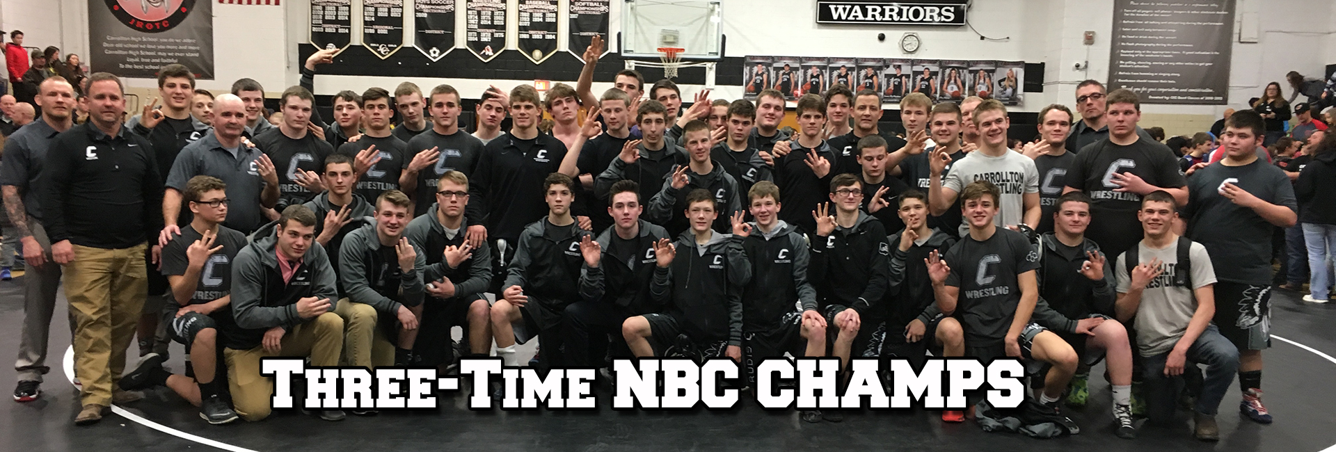 Wrestlers Win Third Straight Title!