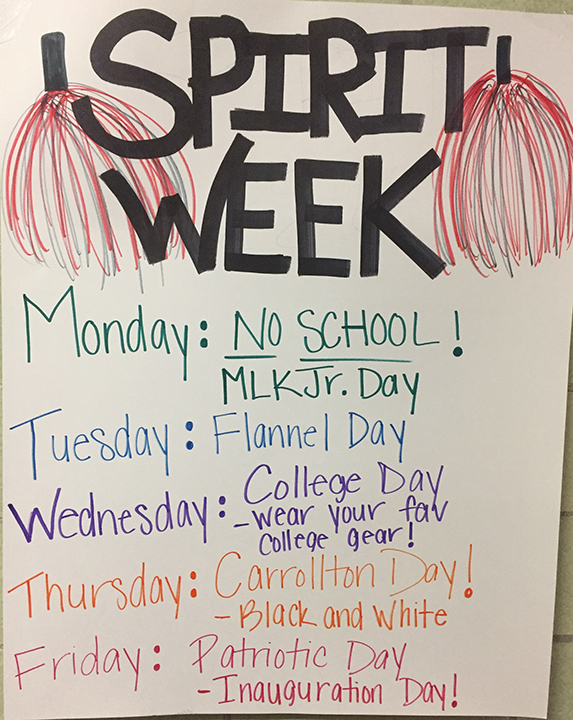Winter Homecoming Spirit Week