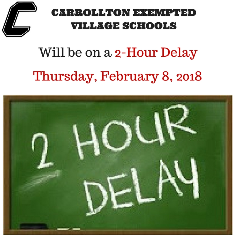 Feb 8 2 Hour delay